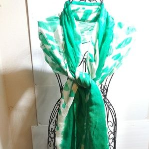 Old Navy Scarf Bright Green and White
